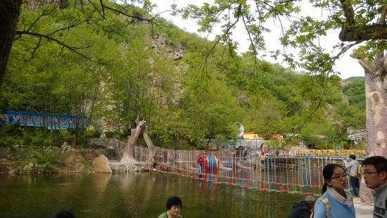 Dalian Bingyu Valley: suspension bridge