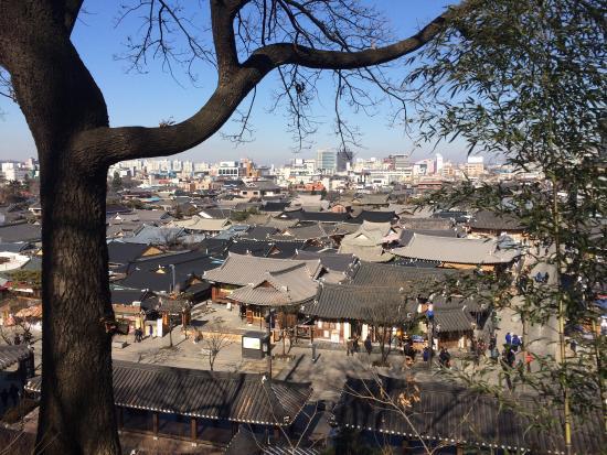 Jeonju, Corea del Sur: 오목대에서 바라본 전주한옥마을 전경