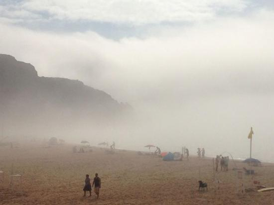 Luz, Portugal: September one of the few foggy days