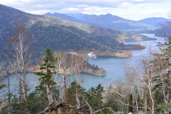 Shikaoi-cho, Япония: 白雲山から見下ろした然別湖