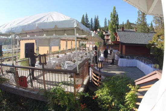Bass Lake, Kalifornia: Cabana buffet banquet