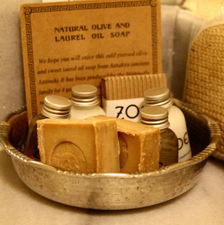 the handmade oil soap was a real treat