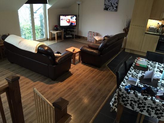 Llanuwchllyn, UK: spacious living area