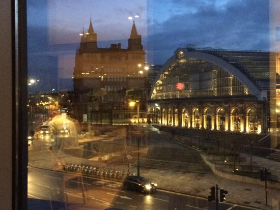 View from dining room of Lime street rail station  - Picture of