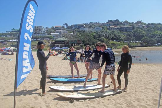Southbroom Surf Instructors with eager Students