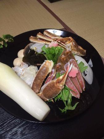 Kyotango, Japão: カニ鍋の具材