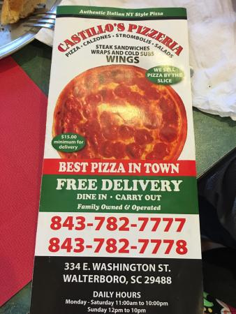 Walterboro, Carolina Selatan: Castillos Pizzeria