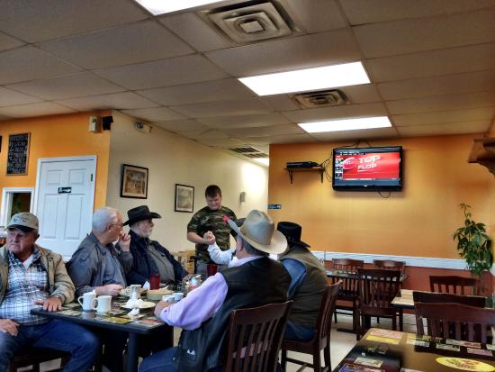 Kyle, TX: The local Hays County Constables meet here for breakfast before a hard day of serving warrants.