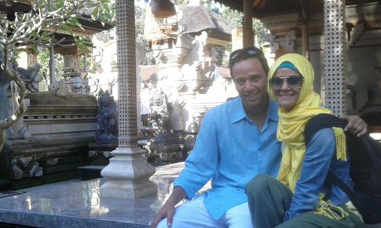 Bali Manggang Cooking Class: Made's House, in front of the family temple