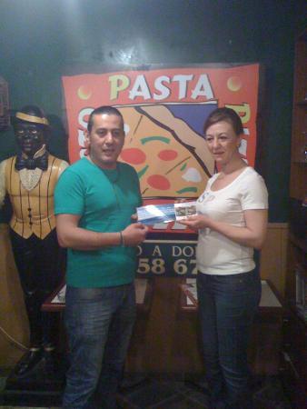 Pasta Pesto: entrega de premio viaje en sorteo
