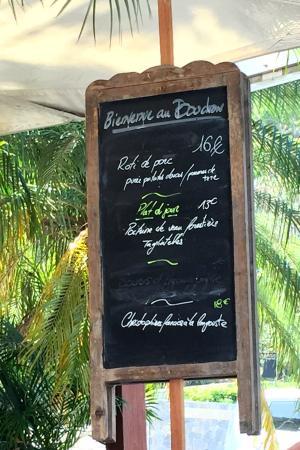 Gustavia, San Bartolomé: Spécialités du jour