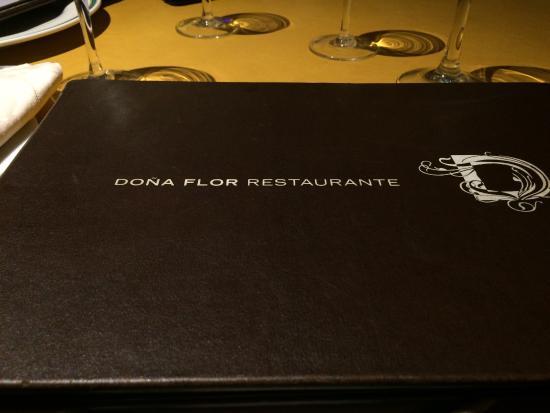 Dona Flor Restaurant: El menú.
