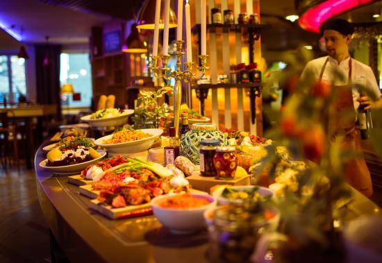 Уппсала, Швеция: Aperitivo buffet