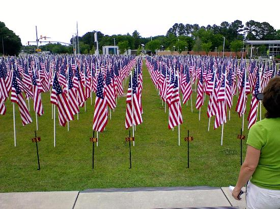 field of flags picture of airborne and special operations museum