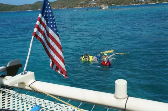 Coral Bay, St. John: Snorkeling with my #1 son!