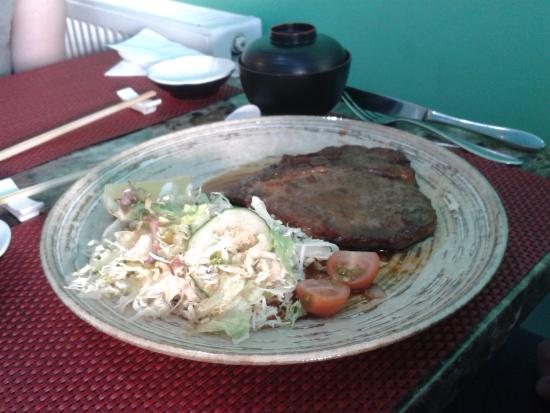 Taunton, UK: Beef dish