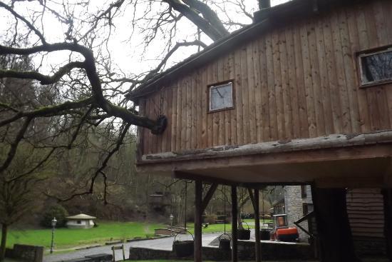 Lisogne, Bélgica: vue de coté du chalet