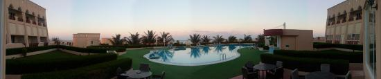 Masirah Island, Omán: panoramic view of the hotel