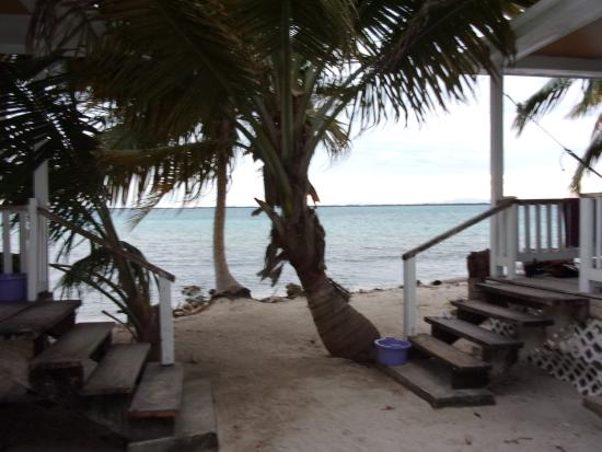 Tobacco Caye, Belize: outside at the cabanas