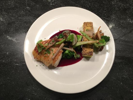 Concord, MA: Line Caught Skate Wing with Port Wine Reduction