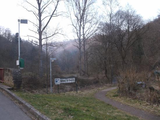 Landhotel Ringelsteiner Mühle: Neben der Strasse, zum Hotel.