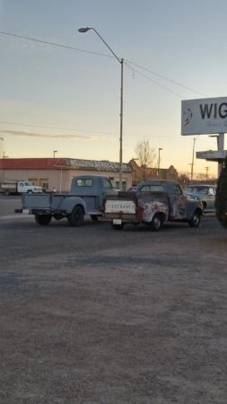 Wigwam Motel: Cool old Studebakers outside the office