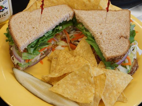 Springfield, OR : The Deli Lama Sandwich is one option for vegans
