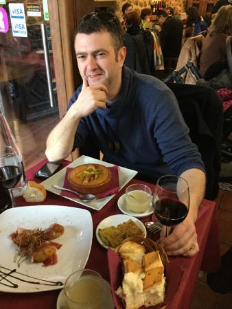 San Martín del Castañar, España: entrantes y primeros platos