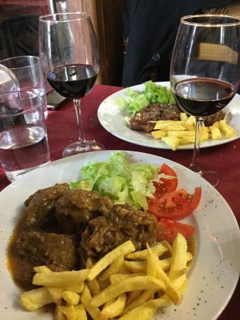 San Martín del Castañar, España: segundos platos