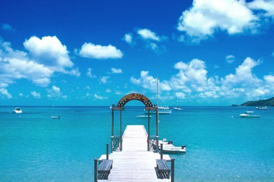 Charlestown, Canouan: Tamarind Beach - pontile