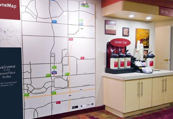 Ранчо Кукамонга, Калифорния: Coffee Bar & TowneMap