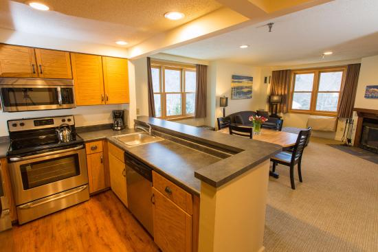 Bolton Valley, VT: Kitchen and Living area in a Suite