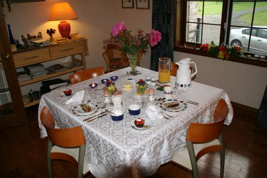 breakfast is ready at Just for You B&B