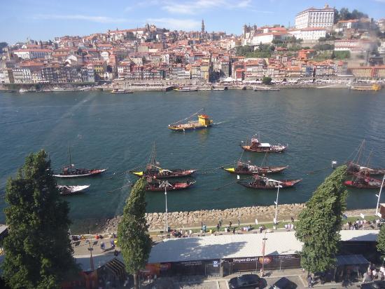 Porto District, Portekiz: Vista da cidade do Porto a partir do teleférico em Gaia.1