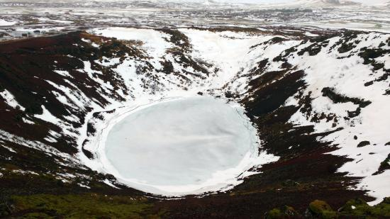 Selfoss, Island: Cratère de Kerid - Janvier 2016