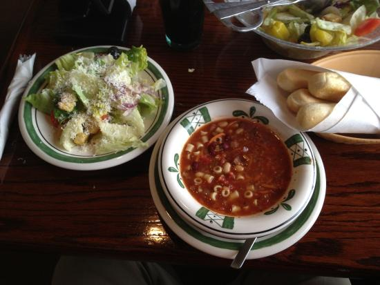 Olive Garden Unlimited Soup Salad And Breadsticks Picture Of Olive Garden Rochester Tripadvisor