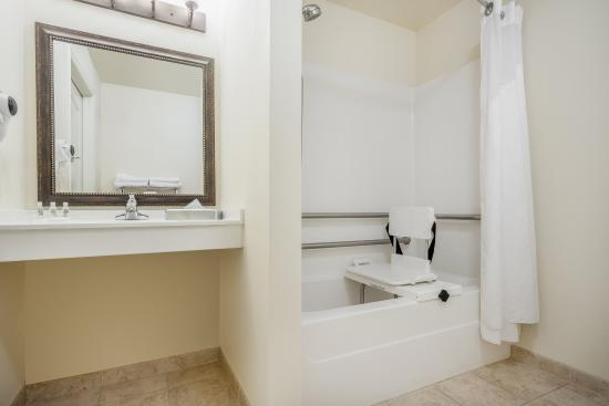 Elk River, MN: ADA/Handicapped accessible Guest Bathroom with mobility tub