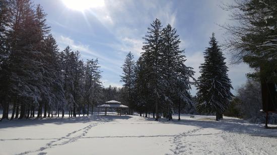 Hudson, NH: Benson Park Gazebo in the snow