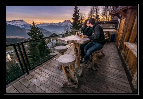 vue de la terrasse jacuzzi picture of hotel le grand chalet leysin tripadvisor. Black Bedroom Furniture Sets. Home Design Ideas