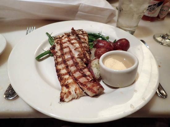 Mr. B's Bistro: GRILLED REDFISH with lemon butter sauce