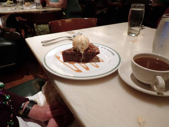 Mr. B's Bistro: HOT BUTTERED PECAN PIE topped with vanilla bean ice cream
