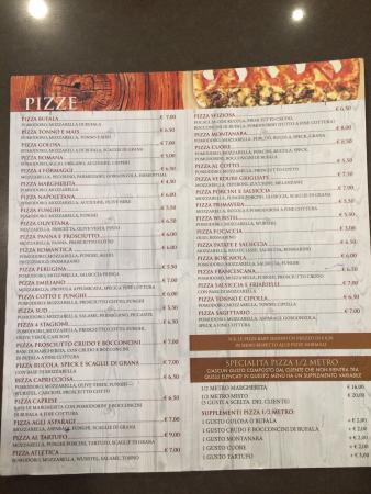 Santa Maria degli Angeli, Italy: Il nostro menù ❤️🍕