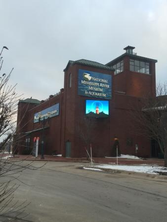 National Mississippi River Museum & Aquarium: One of two entrances to the museum and aquarium