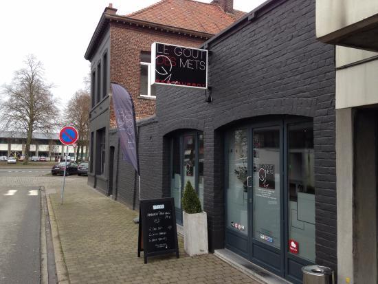 Tournai, Belgique : Façade du restaurant
