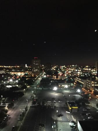Four Seasons Hotel Houston: View from one of the rooms at night.