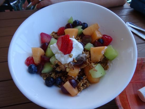 Coral Bay, St. John: Yogurt and granola mix for breakfast