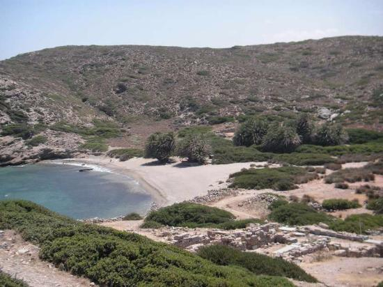 Lasithi Prefecture, Grekland: Пляж с пальмами