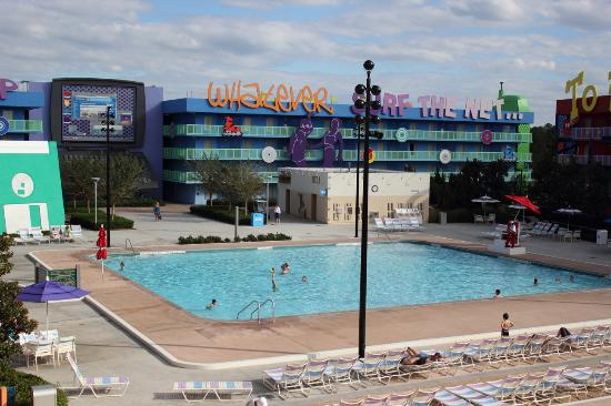 pop century computer pool in the 90s section picture of disney s rh tripadvisor co uk