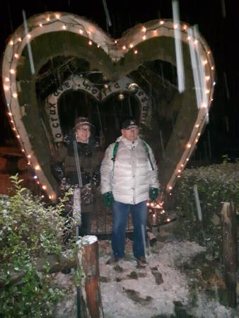 Hotel Daniela : sotto la neve il fantastico cuore del giardino del hotel