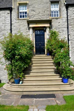 """Pilrig House : These steps are the private entrance to the """"Park View"""" apartment."""